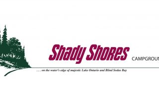 Shady Shores Logo with Lake Ontario shoreline