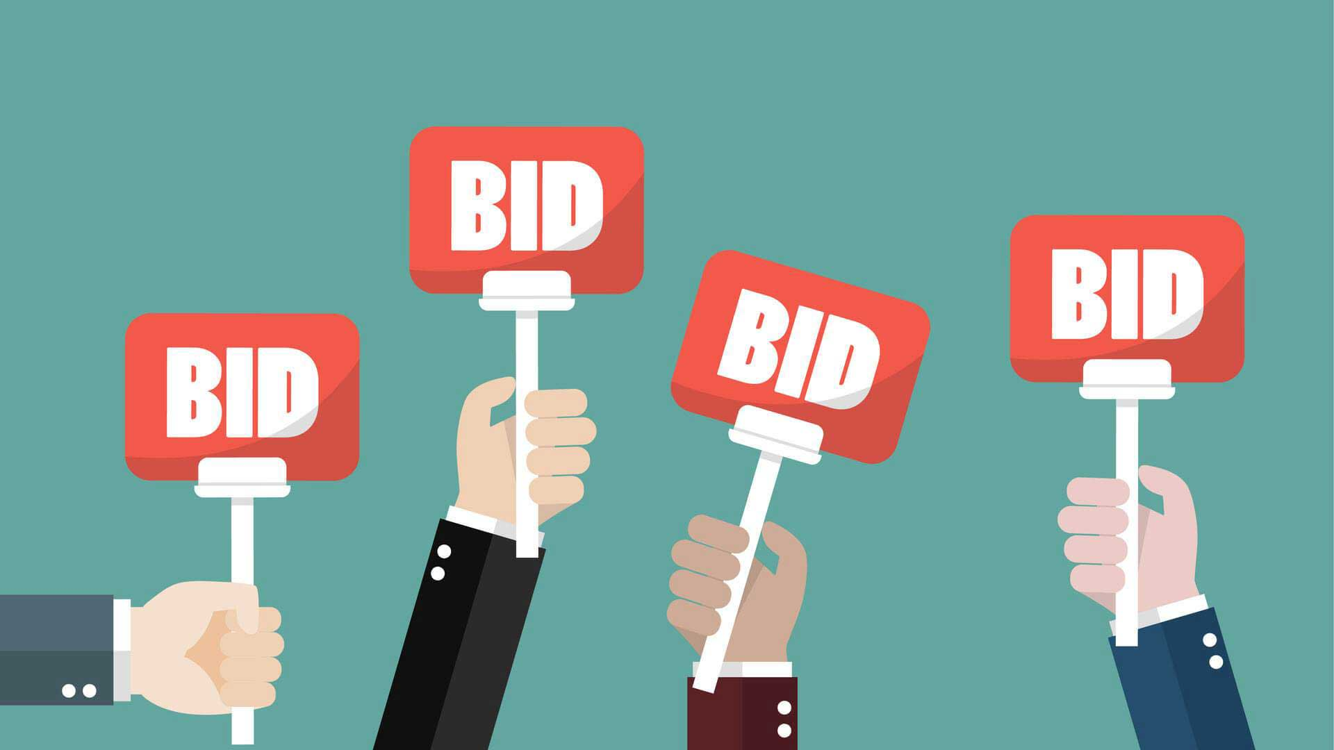 Imagine of auction bid cards